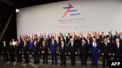 «Ասիա-Եվրոպա» 10-րդ գագաթնաժողովի մասնակիցները հավաքվել են Միլանում, 16-ը հոկտեմբերի, 2014թ.