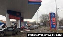 На автозаправке в Пскове