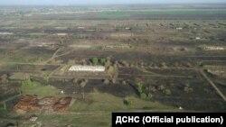 Архівне фото: територія арсеналу в Балаклії, де вже не раз ставалися вибухи й пожежі