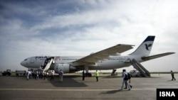 Pamje të aeroplanëve të kompanisë ajrore Iranair