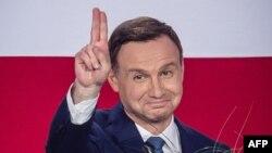 Польшаның жаңа президенті Анджей Дуда. Варшава, 24 мамыр 2015 жыл.