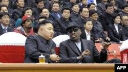 Kim Jong-un dhe Denis Rodman