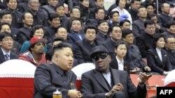 Бывший баскетболист NBA Деннис Родман и северокорейский лидер Ким Чен Ын