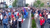 Serbian Antigovernment Marches Continue To Draw Thousands