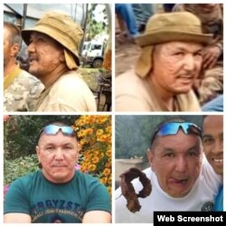 Верхний ряд: Жандатбек Тырготов на кадрах видео из ЦАР, нижний ряд: его же фото из социальных сетей.