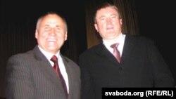 Мікола Статкевіч і Дзьмітры Вус (зправа)