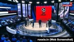 Кадр із денного випуску програми «60 минут» на телеканалі «Росія-1» за 30 травня 2018 року