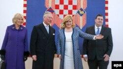 Camilla, vojvotkinja od Cornwalla, princ Charles i hrvatska predsjednica Kolinda Grabar - Kitarović, Zagreb