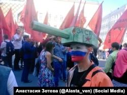 На параде в Москве в 2016 году