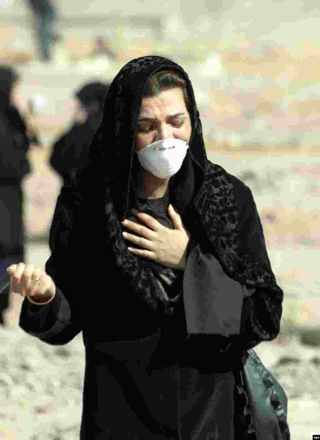 "A woman in Tehran on January 2, 2004, mourns for victims of the Bam earthquake (epa) - ""The historic quarter of Bam has been completely destroyed and many of our countrymen are underneath the ruins,"" said Mohammad Ali Karimi, the governor of Kerman Province, at the time. The disaster sparked a massive domestic and international humanitarian-relief effort."