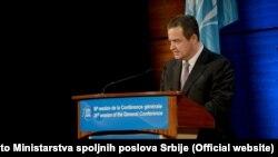 Министр иностранных дел Сербии Ивица Дачич на генеральной конференции ЮНЕСКО в Париже, 4 ноября 2015 года.
