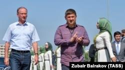 Nikolai Patrushev və Ramzan Kadyrov, Qroznı, 12 sentyabr, 2017