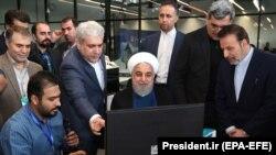 IRAN -- Iranian President Hassan Rohani visits the Noavari factory in Tehran, November 5, 2019