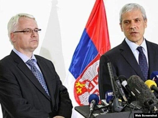 Susret predsednika Hrvatske i Srbije u Bačkom Monoštoru, Foto: video grab www.rts.rs