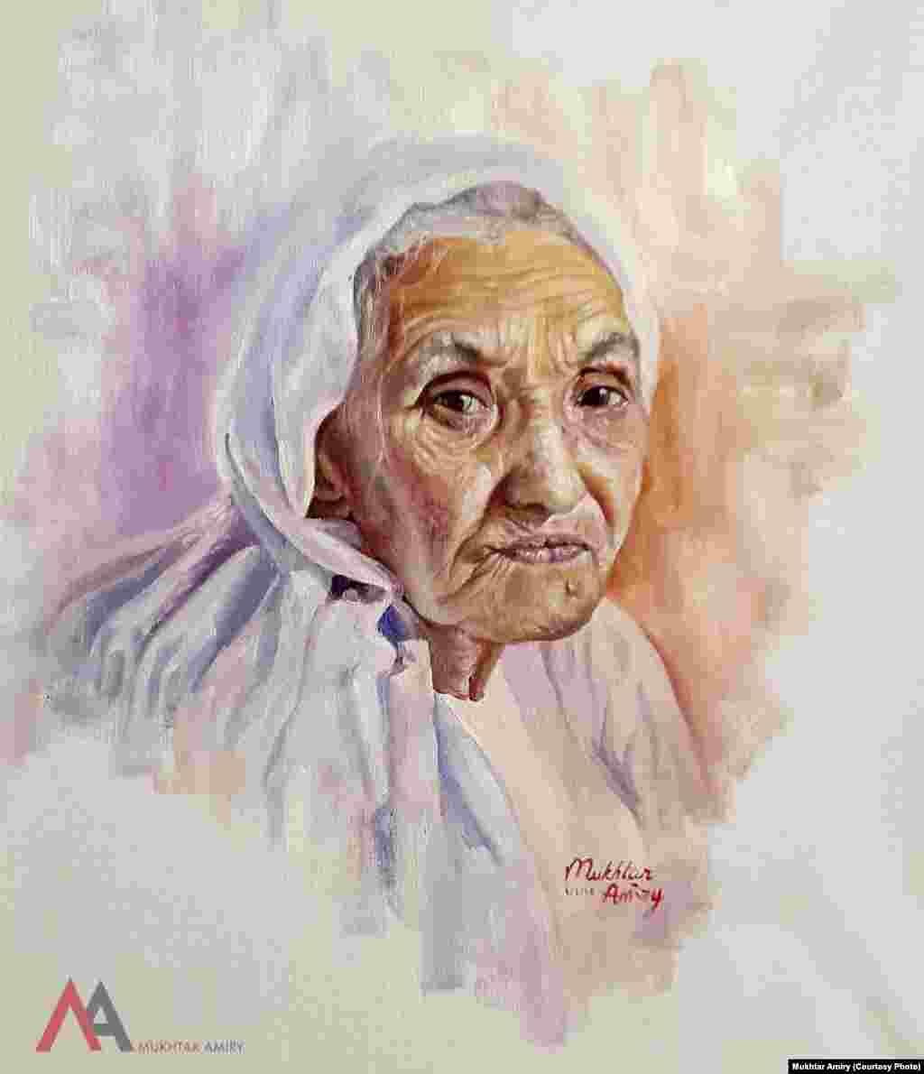 تصویر زن کهن سالافغان