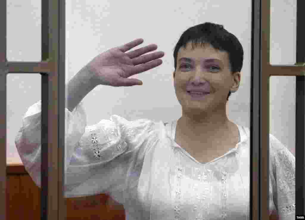 Надежда Савченко на заседании в Донецком городском суде Ростовской области 29 сентября