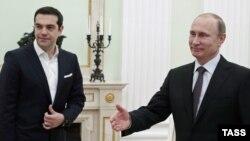 Alexis Tsipras və Vladimir Putin