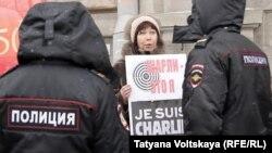 Участница субботней акции в Петербурге