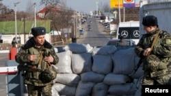 În apropiere de Odesa la un punct de control pe frontiera dintre Ucraina și regiunea transnistreană
