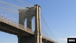 U.S. - The Brooklyn Bridge, seen from Manhattan, New York City, 05Nov2005