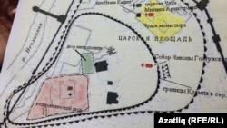 Мәскәү кирмәне картасында сарыга буялган Чудов монастыре астында Алтын Урда биләмәләре булуы ихтимал