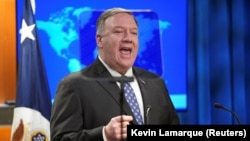 U.S. Secretary of State Mike Pompeo says Washington will never recognize Russia's annexation of Crimea.