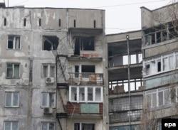 После обстрела в Мариуполе, 24 января 2015 года