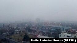 Загаден воздух во Скопје.