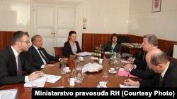 Sastanak ministra pravosuđa Dražena Bošnjakovića sa glavnim tužiteljem MKSJ Serge Brammertzom