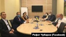 Встреча замглавы МВД Украины Антона Геращенко и руководителей Меджлиса крымскотатарского народа