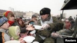 Полевая кухня - неотъемлемый атрибут празднования Дня защитника Отечества
