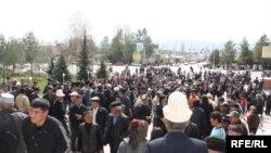 В Таласе прошла акция протеста