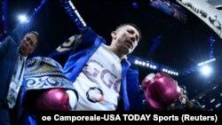 Геннадий Головкин направляется к рингу. Лас-Вегас, 15 сентября 2018 года.
