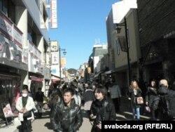 Вулачка ў старажытным горадзе Камакура на поўдзень ад Токіё
