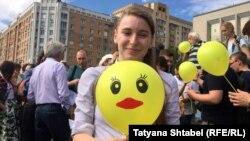 Акция в поддержку Навального в Новосибирске