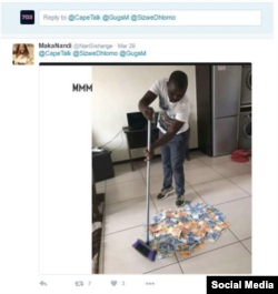 Южноафриканский участник МММ рекламирует сеть