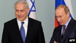 Биньямин Нетаньяху и Владимир Путин на встрече в Москве, 16 февраля 2010