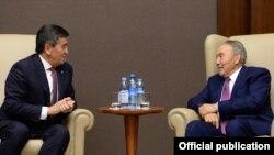 Сооронбай Жээнбеков и Нурсултан Назарбаев. 2019 год.