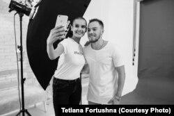 Спортивний гімнаст Олег Верняєв та Ольга Гердега