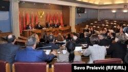 Poluprazna sednica Skupštine Crne Gore