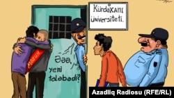 Gündüz Ağayevin çəkdiyi karikatura