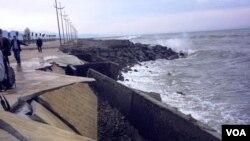 Больше всех пострадала Аджария: разбушевавшееся море разрушило прибрежную зону
