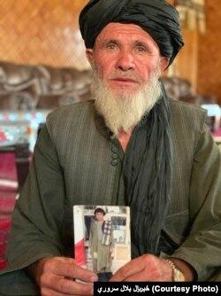 عبدالمحمد د خپل وژل شوي ۱۷ کلن زوی میرزا خان تصویر نیولی