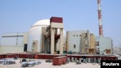 A general view of the Bushehr main nuclear reactor, 1,200 kilometers south of Tehran