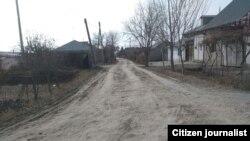 Бездорожье в сельской местности в Узбекистане.
