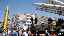 Виставка іранських ракет у центрі Тегерана, червень 2017 року
