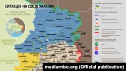 Ситуація в зоні бойових дій на Донбасі 11 січня (карта)