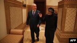 بنیامین نتانیاهو در سال ۲۰۱۸ به دیدار سلطان عمان رفت