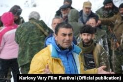 Георгий Овашвили на съемочной площадке