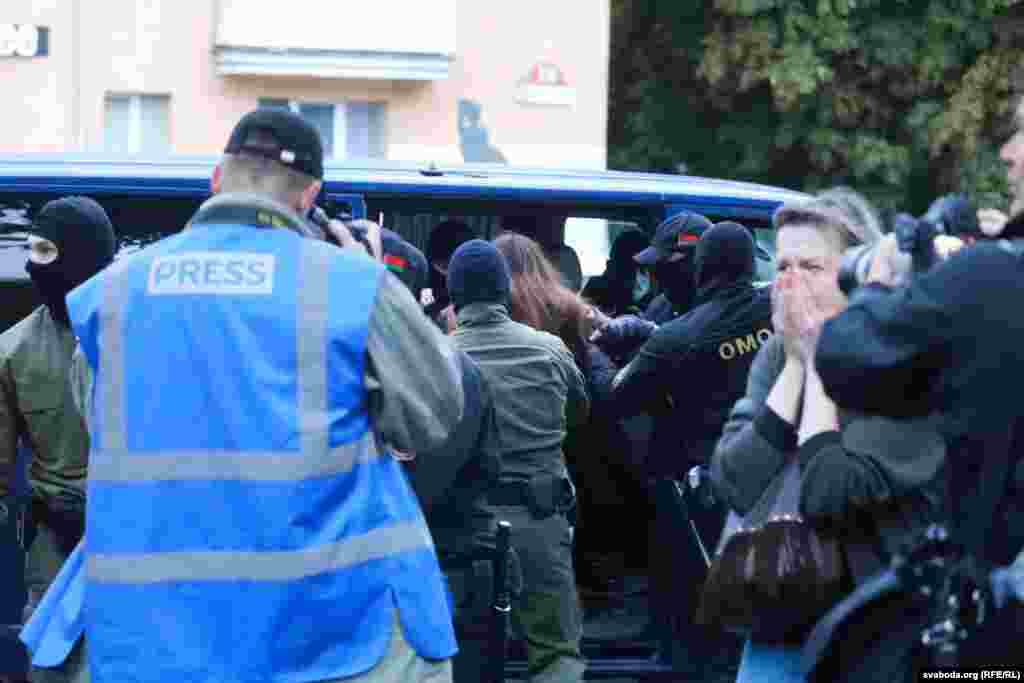 Dozens ofKalesnikava's supporters were detained.